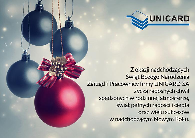 Życzenia od Unicard SA