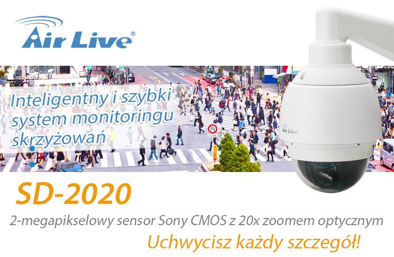 Zastosowanie kamery AirLive SD-2020 do monitorowania skrzyżowań