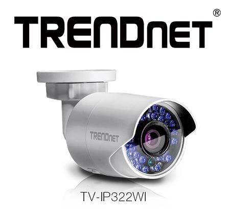 TRENDnet wprowadza kompaktową zewnętrzna kamerę WiFi TV-IP322WI