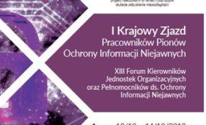 I Krajowy Zjazd Pracowników Pionów Ochrony Informacji Niejawnych