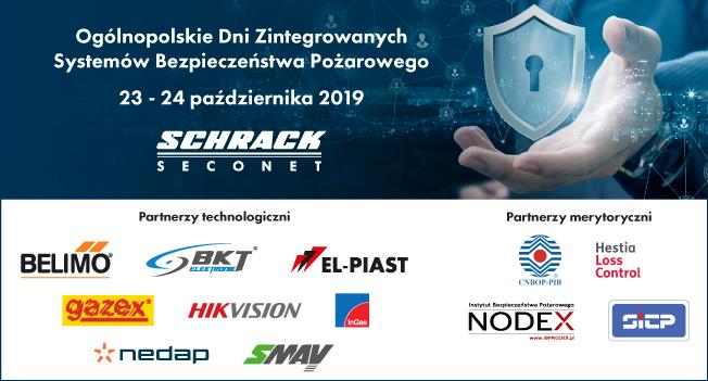 Ogólnopolskie Dni Zintegrowanych Systemów Bezpieczeństwa Pożarowego – Schrack Seconet i Partnerzy – REJESTRACJA